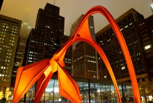 View Chicago at Night Photos >>