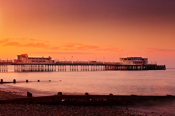 Sunsets over Worthing Pier 1